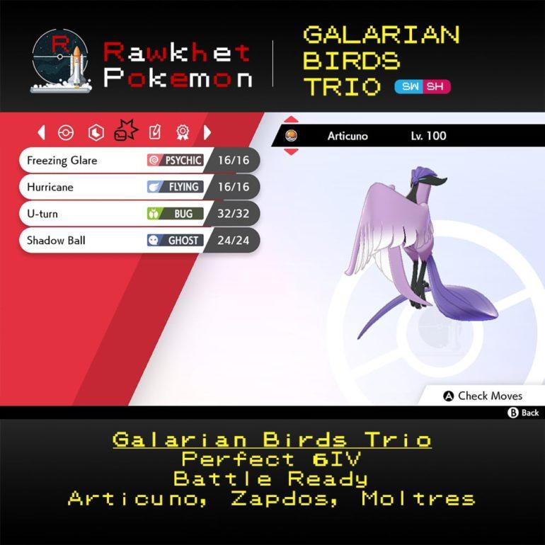 Galarian Birds - Articuno Moves