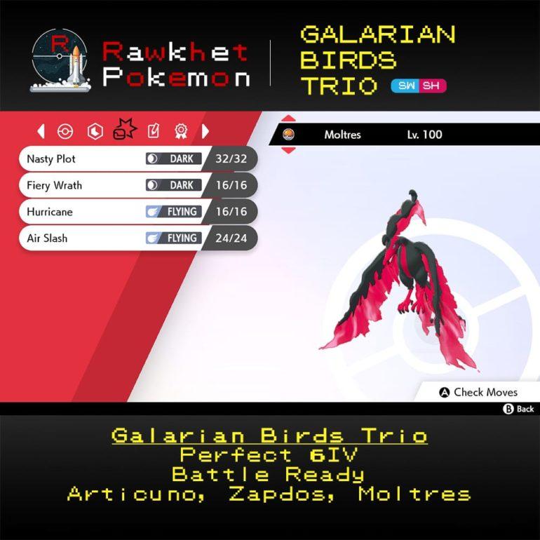 Galarian Birds - Moltres Moves