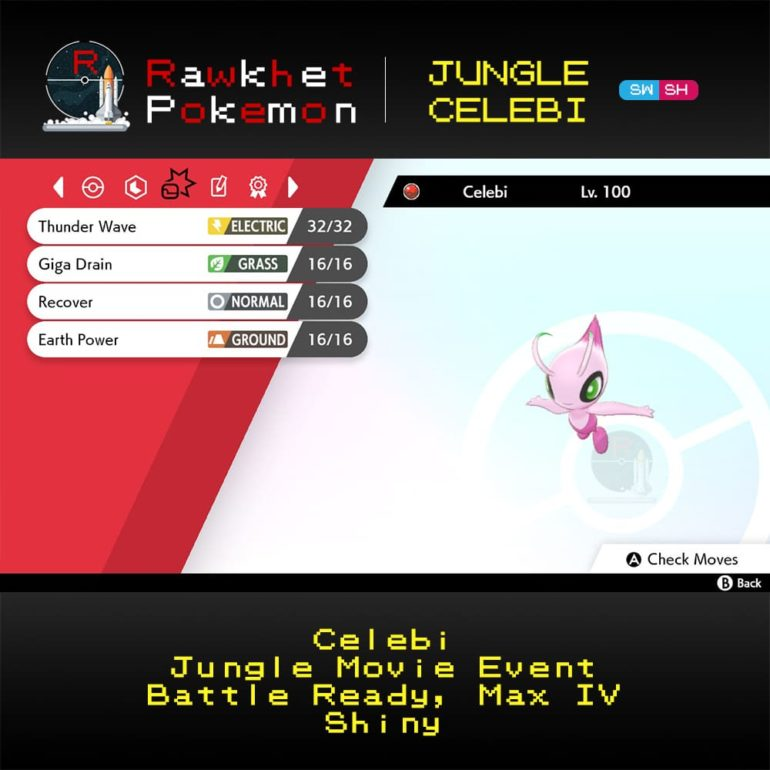 Jungle Celebi - Moves