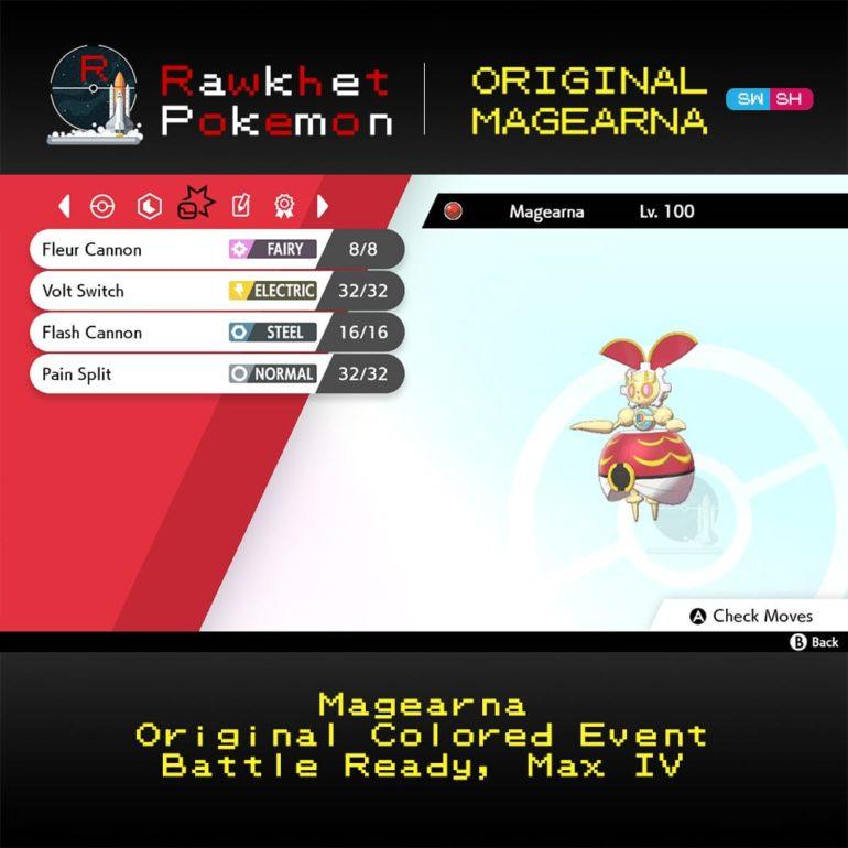 Original Magearna - Moves