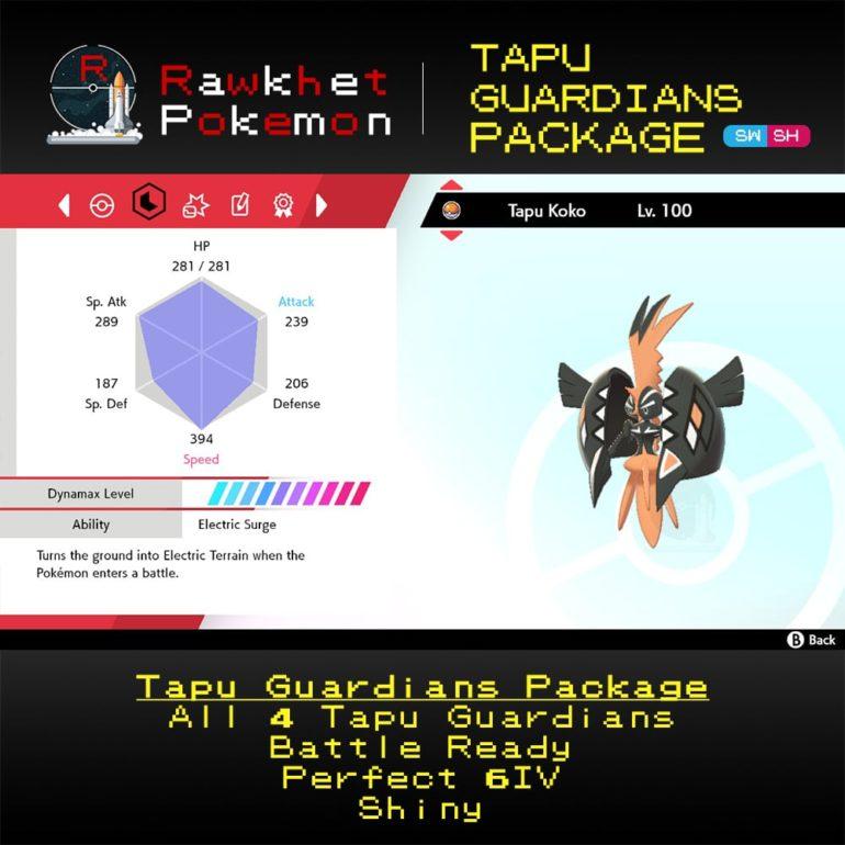 Tapu Guardians - Tapu Koko Stats
