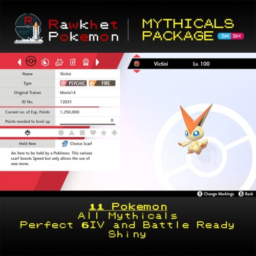 Mythicals Package - Victini Summary