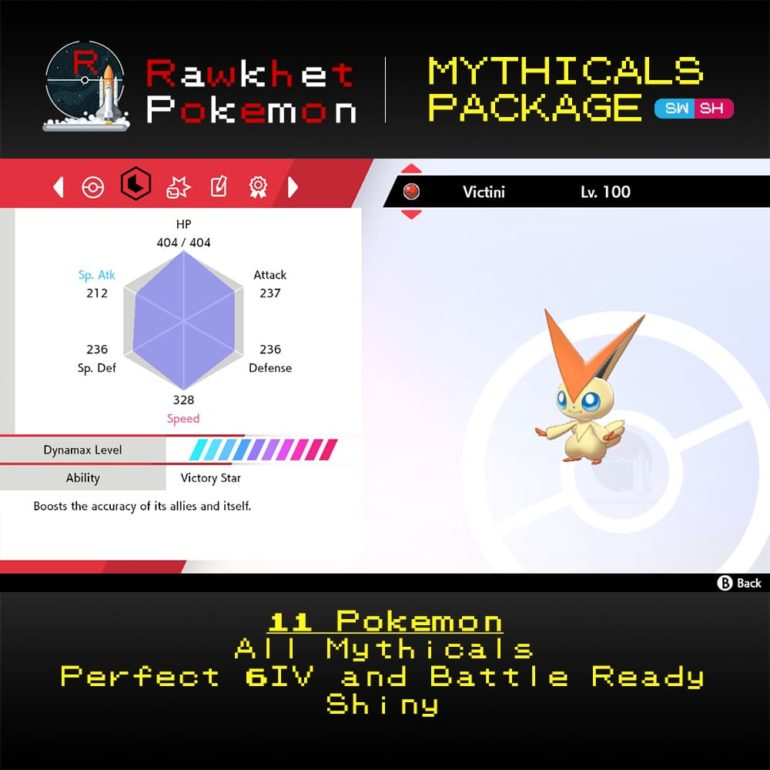 Mythicals Package - Victini Stats
