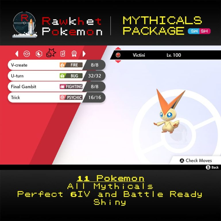 Mythicals Package - Victini Moves