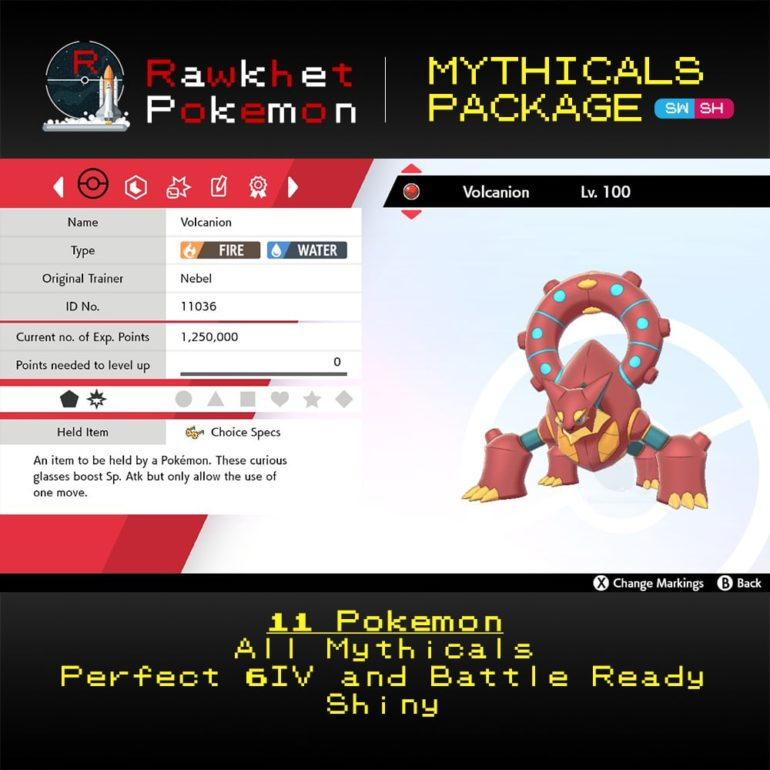 Mythicals Package - Volcanion